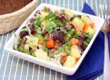 Салат с маринованными опятами. Пошаговый кулинарный рецепт с фотографиями приготовление постного салата из овощей с маринованными опятами. Фото рецепта