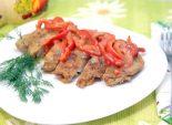 Куриная отбивная со сладким перцем. Пошаговый кулинарный рецепт с фото приготовления куриной отбивной со сладким перцем. Фото рецепта