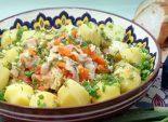 Мясо тушеное с овощами и зеленью. Пошаговый кулинарный рецепт с фотографиями приготовление мяса с овощами и зеленью. Фото рецепта