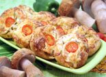 Слойки с белыми грибами и овощами. Пошаговый кулинарный рецепт с фотографиями приготовление слоек с белыми грибами и овощами. Фото рецепта