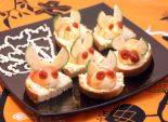 Бутерброды «Гремлины». Пошаговый кулинарный рецепт с фотографиями приготовление страшных бутербродов на Хэллоуин. Фото рецепта