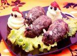 Жаренные крыски с картофельным пюре. Пошаговый кулинарный рецепт с фото приготовление крысок из фарша в духовке с картофельным пюре на Хэллоуин. Фото рецепта