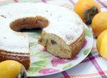 Пирог с хурмой. Пошаговый кулинарный рецепт приготовление пирога с хурмой. Фото рецепта