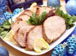 Мясо в духовке к новогоднему столу. Пошаговый кулинарный рецепт с фото приготовление мяса шпигованного чесноком со специями в духовке на новогодний стол. Фото рецепта