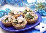Корзинки с грибной начинкой. Пошаговый кулинарный рецепт с фотографиями приготовление закуски корзинок с грибной начинкой на новогодний стол. Фото рецепта