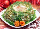 Салат «Новогоднее чудо». Пошаговый кулинарный рецепт с фото приготовление новогоднего салата с лососем и горошком на новогодний стол. Фото рецепта