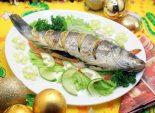 Сибас к новогоднему столу. Пошаговый кулинарный рецепт с фото приготовление рыбы сибас с лимоном запеченный в духовке на новогодний стол.