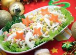 Салат с крабовыми палочками и кукурузой. Пошаговый кулинарный рецепт с фото приготовление салата с крабовыми палочками и кукурузой на новогодний стол. Фото рецепта