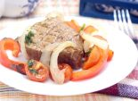 Запеченная телятина с овощами. Пошаговый кулинарный рецепт с фото приготовление запеченной телятины с овощами. Фото рецепта