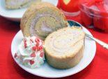 Бисквитный рулет с клубничным кремом. Пошаговый кулинарный рецепт с фото приготовление бисквитного рулета с клубничным кремом. Фото рецепта