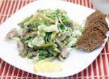 Салат «Гусарская закуска». Пошаговый кулинарный рецепт с фото приготовление салата с картофелем и сельдью. Фото рецепта