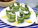Рулетики из огурца с салатом. Пошаговый кулинарный рецепт с фото приготовление закуски из огурца с сыром и яйцом. Фото рецепта