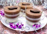 Десерт из желе «Зебра». Новогодний кулинарный рецепт с фотографиями приготовления десерта из желе на Новый год.