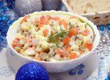 Салат Оливье с сёмгой. Пошаговый кулинарный рецепт с фотографиями приготовления салата оливье с сёмгой