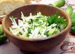 Салат из кольраби и огурцом «Грин»