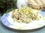 Салат с ветчиной, сыром и огурцами «Любимый мужчина»