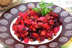 Салат с капустой огурцом помидорами и фасолью
