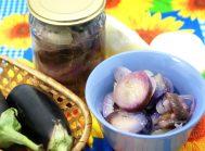 Закуска из баклажан с луком