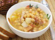 Суп из нута с копченостями
