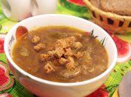 Грибной суп со сморчками и чечевицей