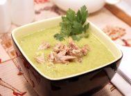 Крем-суп из зелёного горошка и брокколи