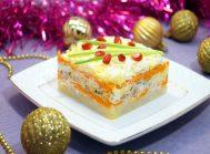 Салат с горбушей «Новогодний эскиз»