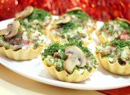 Тарталетки с грибами «Праздничные»