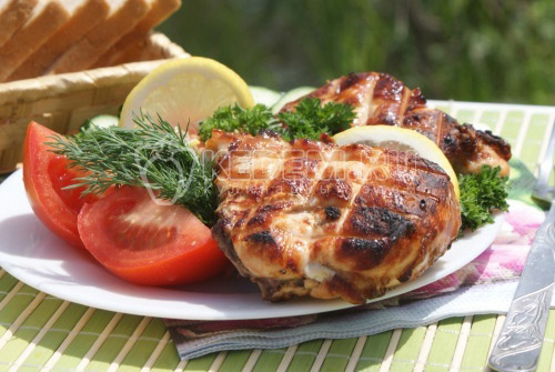 Барбекю из кусочков курицы - рецепт