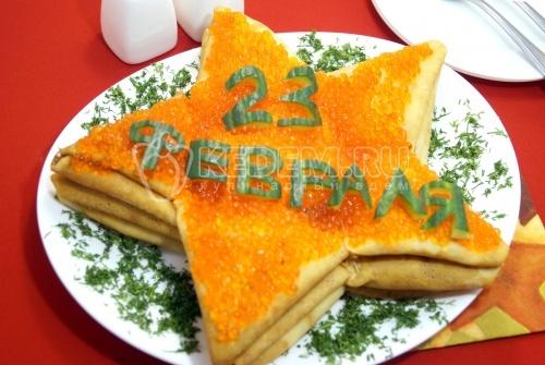 Блинный торт Звезда