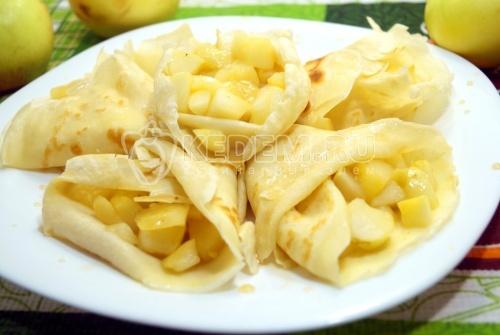 Блины с яблоками - рецепт