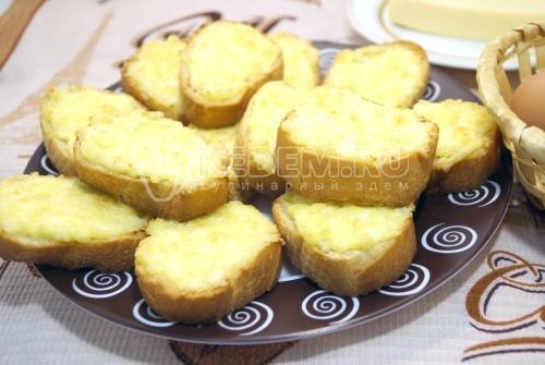 Бутерброды с сыром в духовке - рецепт