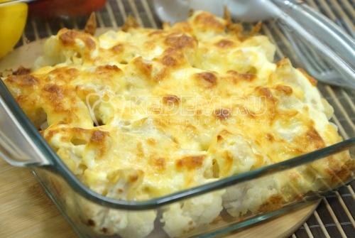 Цветная капуста с сыром в духовке - рецепт
