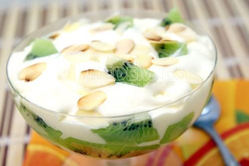 Десерт из мороженого Киви