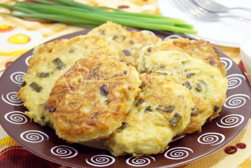 Драники картофельные с зелёным луком - рецепт