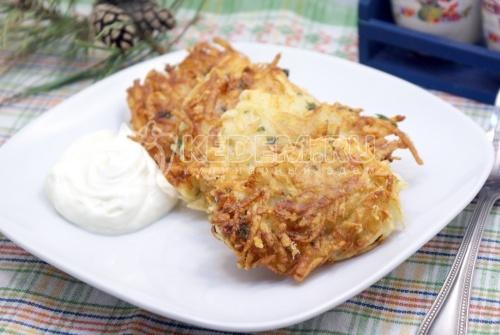 Драники с сыром и зеленью
