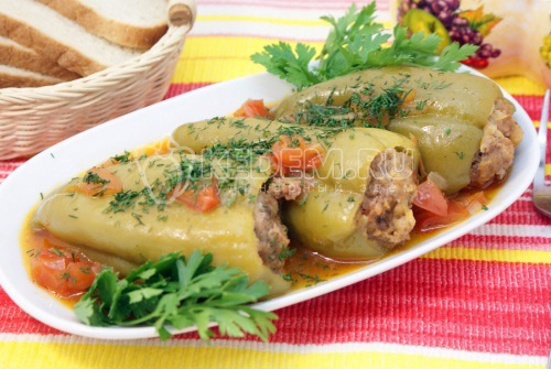 Фаршированные перцы с томатами – Пошаговый рецепт с фото Вторые блюда