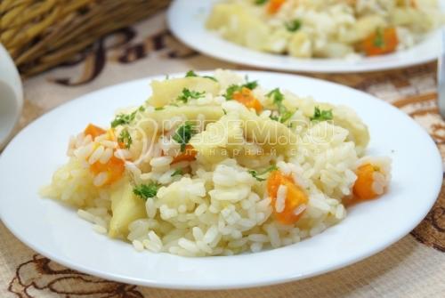 Филе трески с рисом