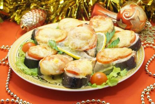 Горбуша под сыром в духовке Новогодняя