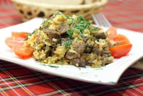 Говядина с рисом в мультиварке - рецепт