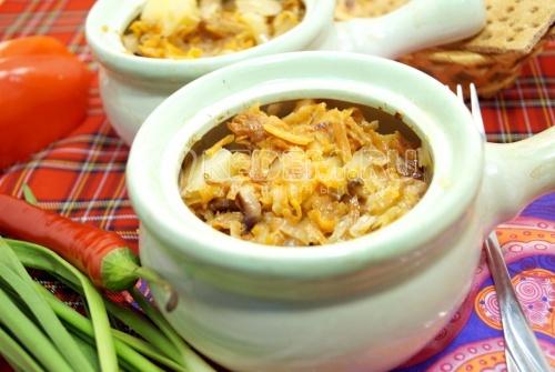 Грибная солянка в горшочке - рецепт