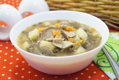 Грибной суп «Богатырский»