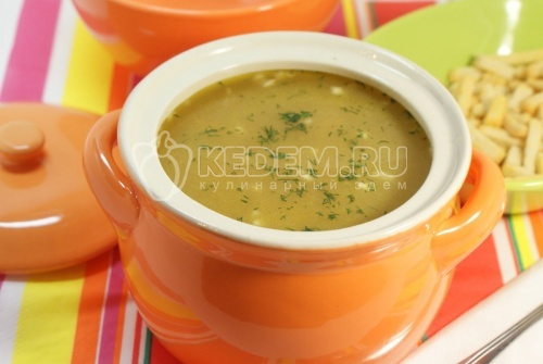Грибной суп с опятами на мясном бульоне - рецепт