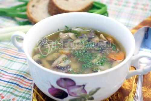 Грибной суп - рецепт
