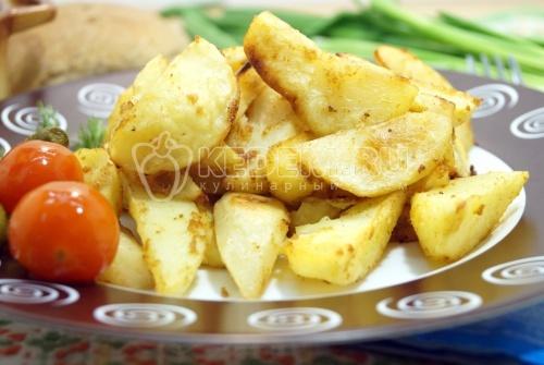 Картофель дольками в духовке - рецепт