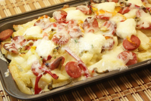 Картофель и сосиски - рецепт