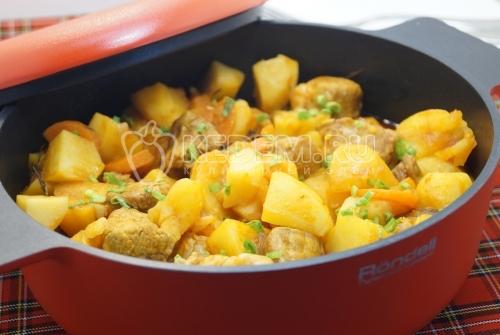 Картофель тушёный с мясом - рецепт