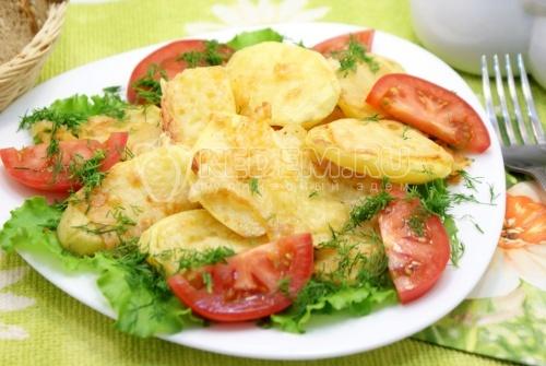Картофельные дольки под сыром