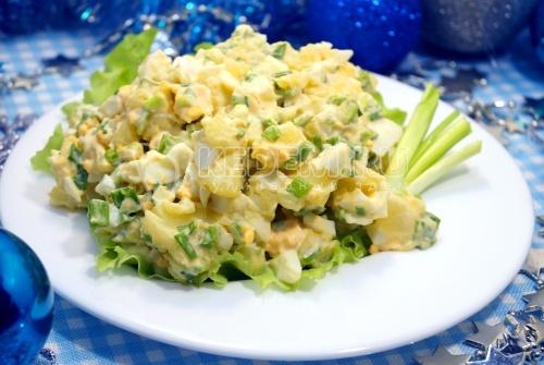 Картофельный салат на Рождество