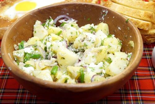 Картофельный салат с брынзой