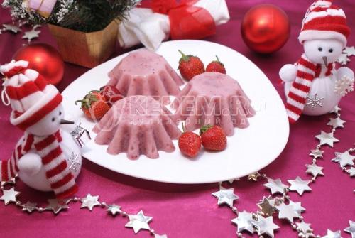 Клубнично-сливочный десерт